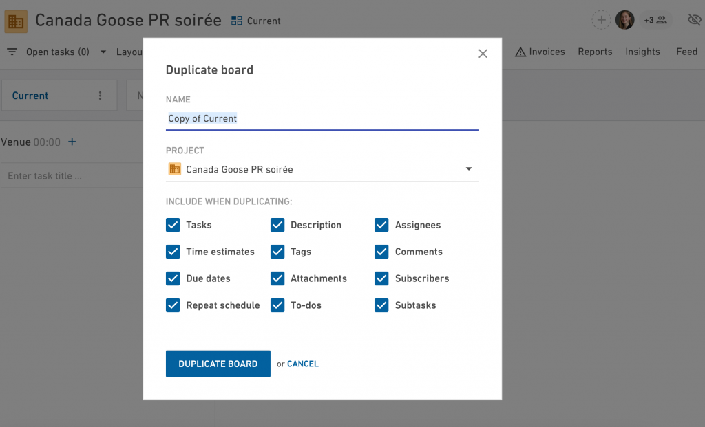 Duplicate boards in Productive